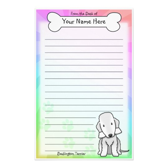 Kawaii Bedlington Terrier Stationery