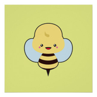 Kawaii Bee Poster