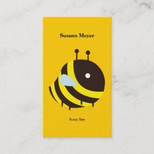 Kawaii business cards zazzle uk kawaii bee very cute flying bee business card colourmoves
