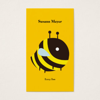 KAWAII BEE VERY CUTE FLYING BEE BUSINESS CARD