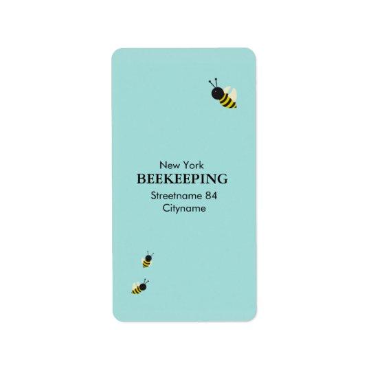 Kawaii Bees flying Label