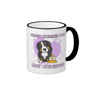 Kawaii Bernese Mountain Dog Rally Obedience Coffee Mugs