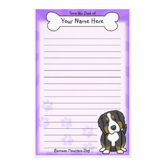 Kawaii Bernese Mountain Dog Stationery