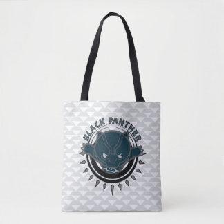 Kawaii Black Panther Logo Tote Bag