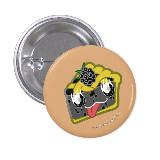 Kawaii Blackberry Pie Slice Button
