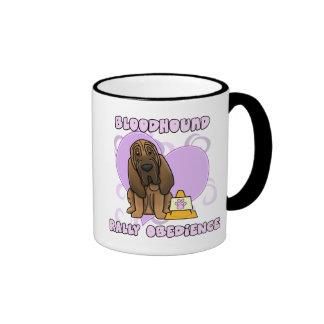 Kawaii Bloodhound Rally Obedience Ringer Mug