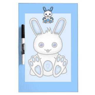 Kawaii Blue Bunny Dry Erase Board