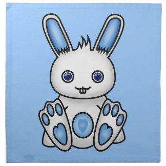 Kawaii Blue Bunny Napkin