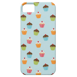 Kawaii blue cupcake pattern print cupcakes cute iPhone 5 case