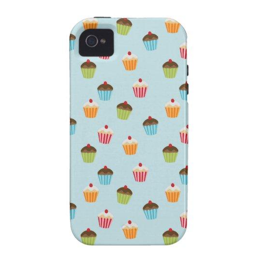 Kawaii blue cupcake pattern print iPhone 4S case