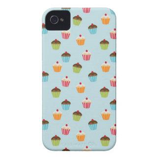 Kawaii blue cupcake pattern print iPhone 4S case iPhone 4 Cover