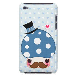 Kawaii blue mushroom with mustache barely there iPod covers
