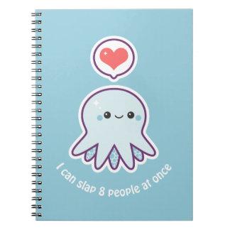 Kawaii Blue Octopus Notebooks
