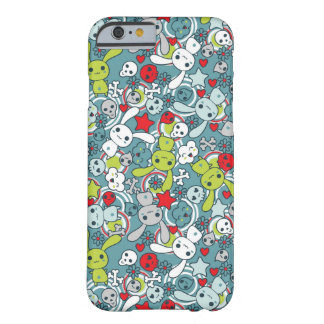 kawaii blue pattern barely there iPhone 6 case