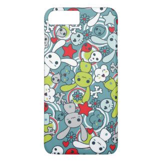 kawaii blue pattern iPhone 7 plus case