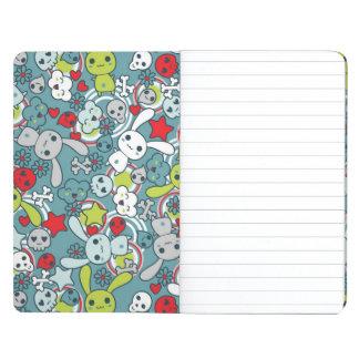 kawaii blue pattern journal