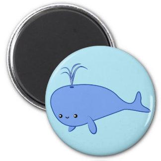 Kawaii blue whale magnet