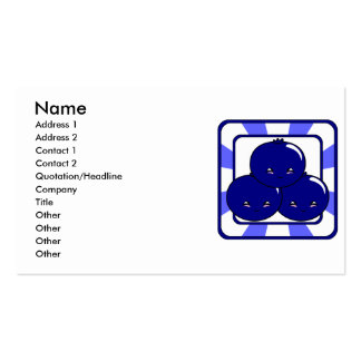 Kawaii Blueberry Basket (Boy) Pack Of Standard Business Cards