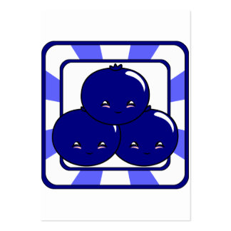Kawaii Blueberry Basket (Boy) Pack Of Chubby Business Cards