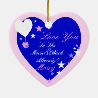 Kawaii Blueberry Basket (Boy) Ceramic Heart Decoration