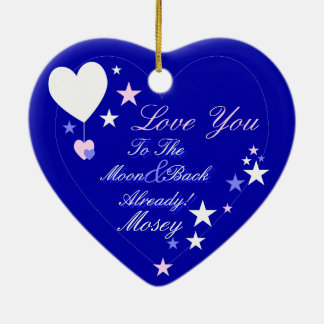 Kawaii Blueberry Basket (Boy) Christmas Ornament