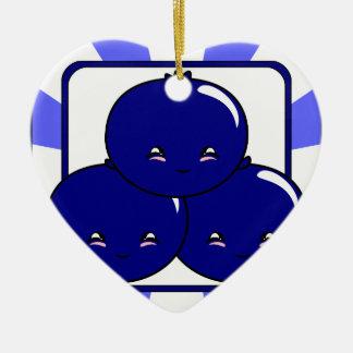 Kawaii Blueberry Basket (Boy) Christmas Tree Ornament