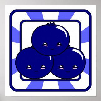 Kawaii Blueberry Basket (Boy) Print
