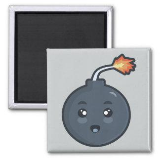 Kawaii Bomb Square Magnet