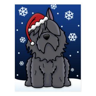 Kawaii Bouvier des Flandres Christmas Postcard