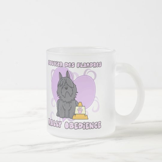 Kawaii Bouvier des Flandres Rally Obedience Frosted Glass