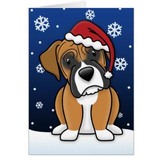 Kawaii Boxer Christmas Card