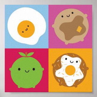 Kawaii Breakfast Poster