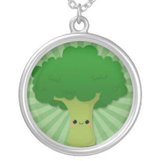 Kawaii Broccoli on Green Starburst Custom Jewelry