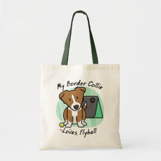 Kawaii Brown Border Collie Flyball Bag