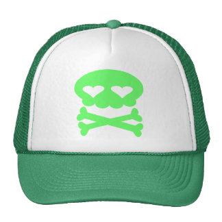Kawaii Bubble Skull Crazy Green Cap