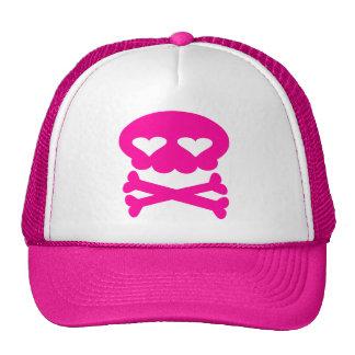 Kawaii Bubble Skull Hot Pink Cap