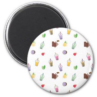Kawaii Bubble Tea 6 Cm Round Magnet