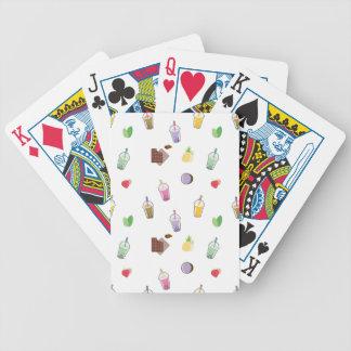 Kawaii Bubble Tea Bicycle Playing Cards