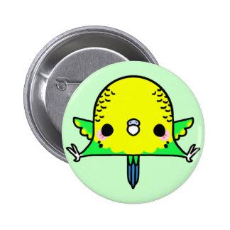 Kawaii Budgie (You change the Background!) 6 Cm Round Badge