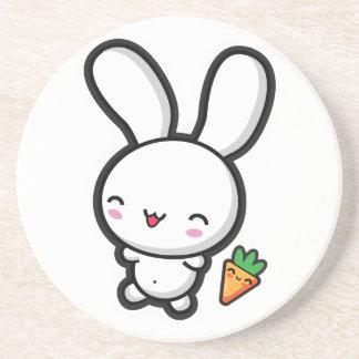 Kawaii Bunny and Carrot Coaster