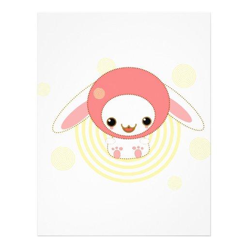 kawaii bunny pink full color flyer