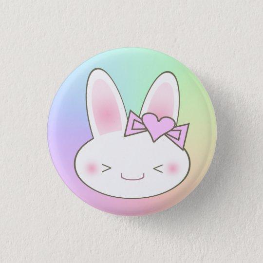 Kawaii Bunny Rabbit & Bow 3 Cm Round Badge