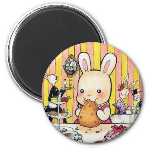 Kawaii Bunny Tea Party Magnet