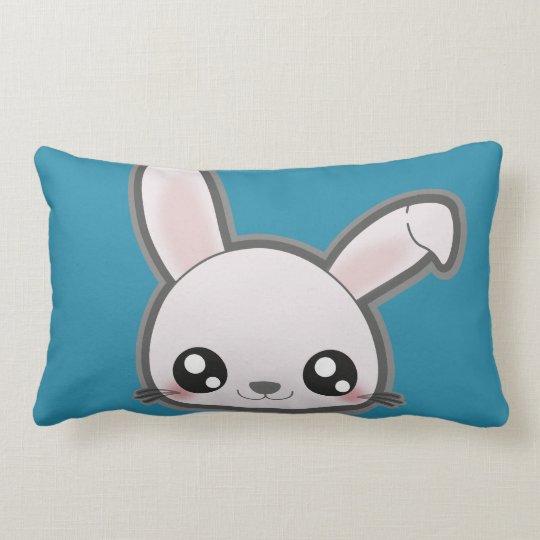 Kawaii bunny throw pillow