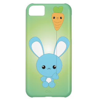 Kawaii Bunny with Carrot Balloon iPhone case Case For iPhone 5C