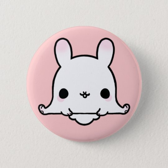 Kawaii Bunny (You change the Background!) 6 Cm Round Badge