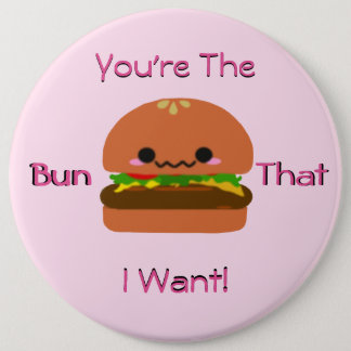 Kawaii Burger 6 Cm Round Badge