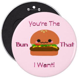 Kawaii Burger 6 Cm Round Badge