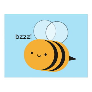 Kawaii Buzzy Bumble Bee Postcard