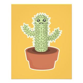 """Kawaii Cactus 4.5"""" X 5.6"""" Flyer"""